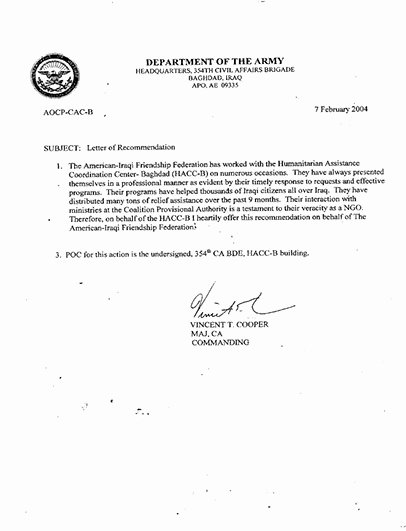 Military Letter Of Recommendation Template Inspirational Best S Of Army Letter format Military Letter format