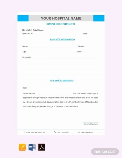 Minute Clinic Doctors Note Template Luxury 11 Sample Doctor S Note Examples [download now] Word