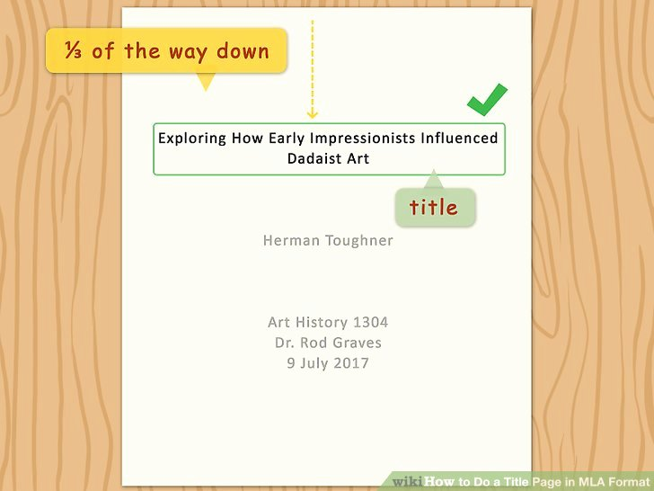Mla Cover Page Template Beautiful How to Do A Title Page In Mla format with Examples Wikihow