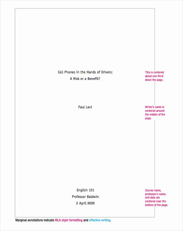 Mla Cover Page Template Inspirational 12 Cover Sheet Doc Pdf