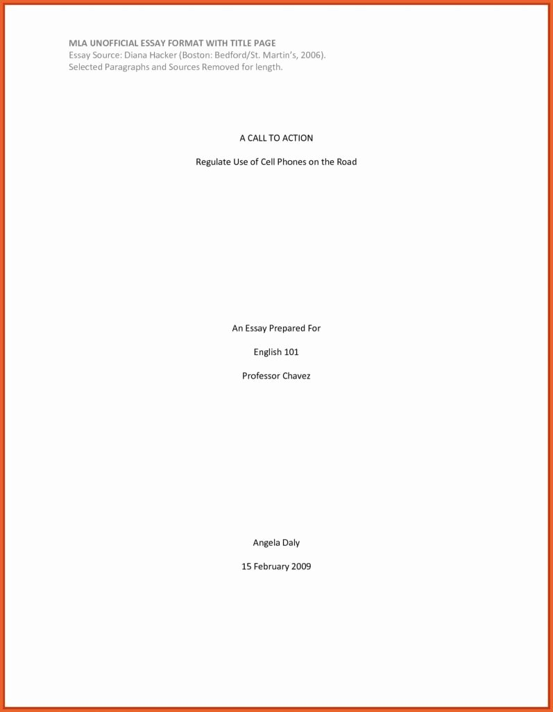 Mla Cover Page Template Lovely Mla format Title Page
