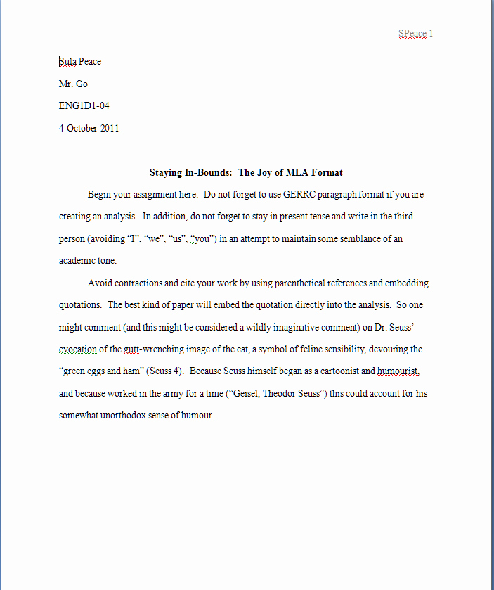 Mla Cover Page Template New Image Result for Mla format Template