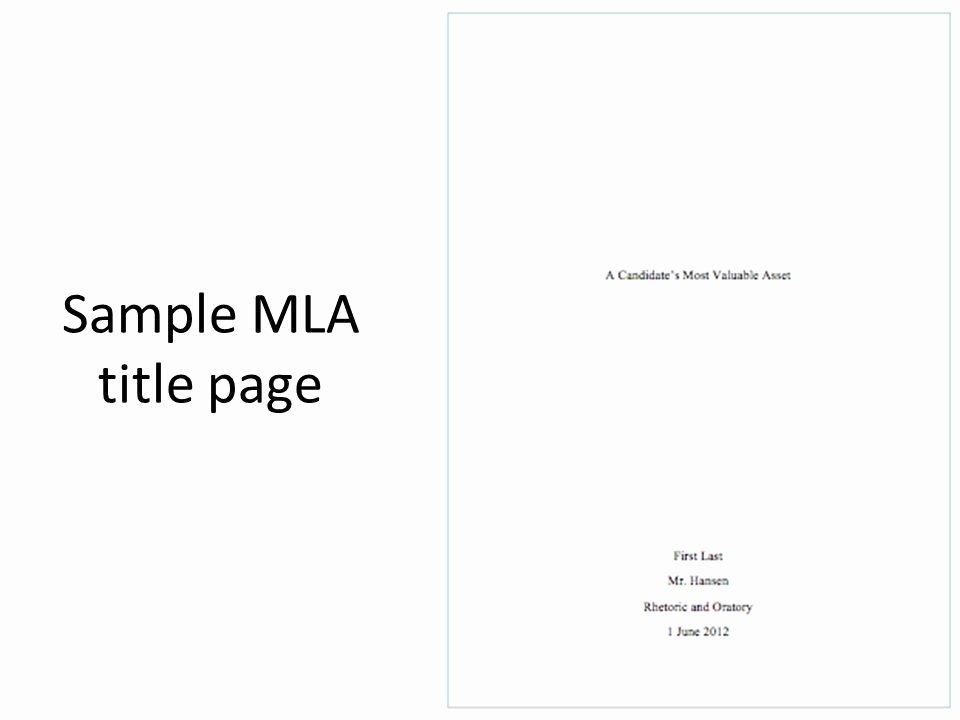 Mla Cover Page Template Unique Mla Title Page