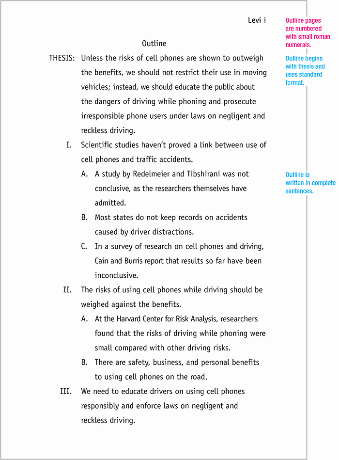 Mla format Outline Template New Mla format Sample Paper with Cover Page and Outline