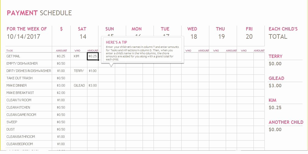 Monthly Payment Schedule Template Beautiful 5 Bill Payment Schedule Template Pdf & Word Excel Tmp