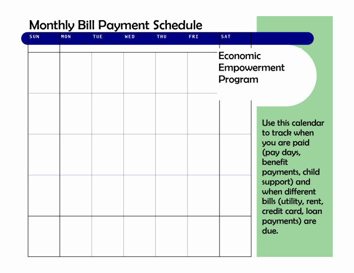 Monthly Payment Schedule Template Fresh Monthly Based Bill Payment Schedule Template Vatansun