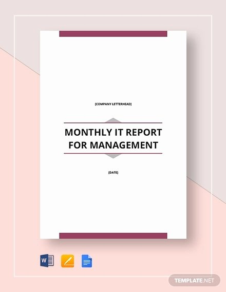 Monthly Report Template for Manager Lovely 40 Monthly Management Report Templates Pdf Google Docs