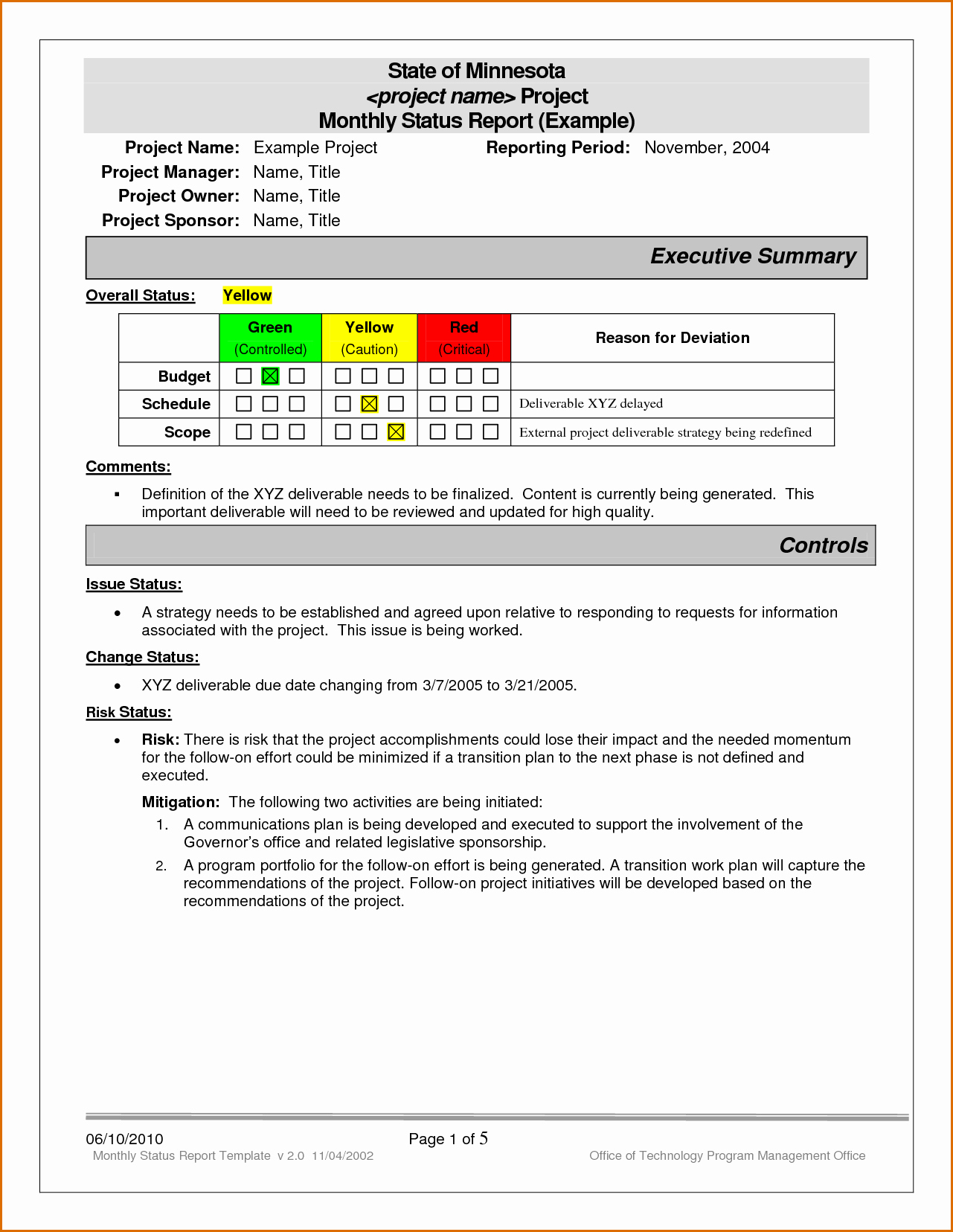 Monthly Report Template for Manager New 12 Monthly Status Report Template