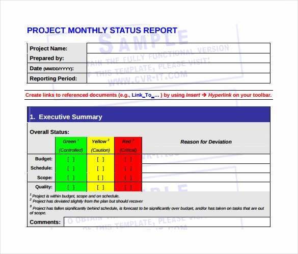 Monthly Report Template for Manager New 22 Sample Monthly Management Report Templates Word