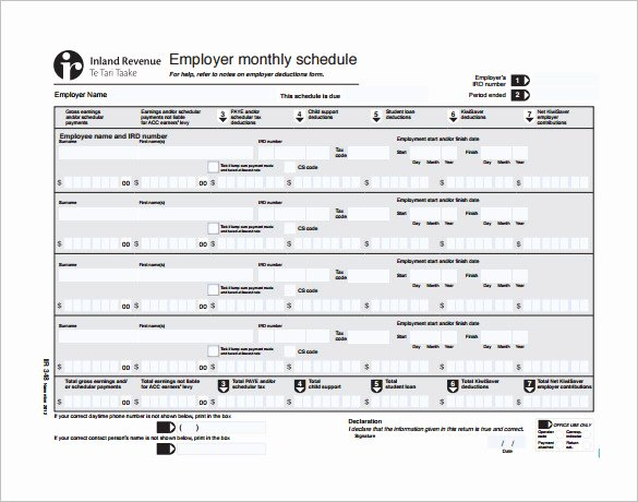 Monthly Work Schedule Template Awesome Monthly Employee Schedule Template Excel – Planner