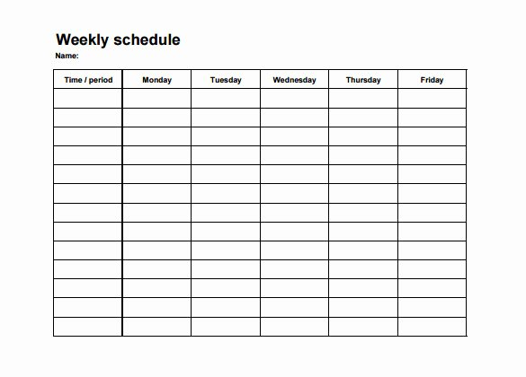 Monthly Work Schedule Template Awesome Weekly Employee Shift Schedule Template Excel