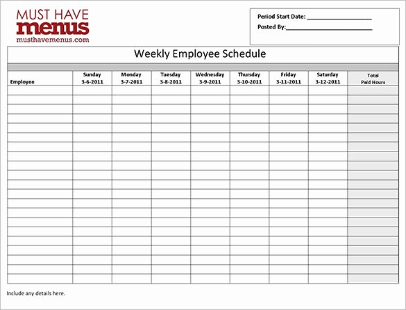 Monthly Work Schedule Template Beautiful Employee Work Schedule Template 17 Free Word Excel