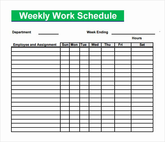 Monthly Work Schedule Template Best Of Free 4 Sample Blank Schedule Templates In Pdf