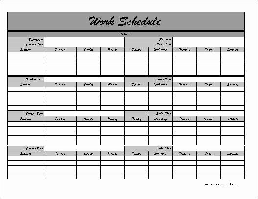 Monthly Work Schedule Template Best Of Monthly Schedule Template
