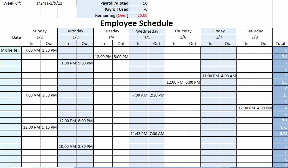 Monthly Work Schedule Template Lovely Scheduling Templates
