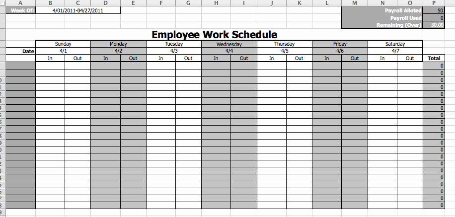 Monthly Work Schedule Template New Line Schedule Maker Work Schedule Template