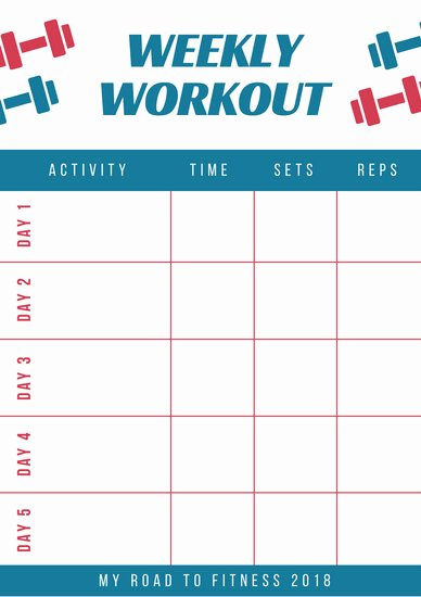 Monthly Workout Schedule Template Awesome Weekly Schedule Planner Templates Canva