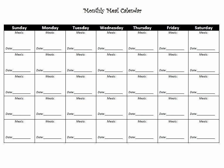 Monthly Workout Schedule Template Best Of Monthly Diet Calendar Template