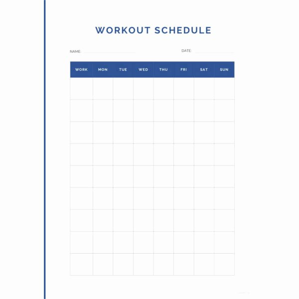 Monthly Workout Schedule Template Lovely 22 Workout Schedule Templates Pdf Doc