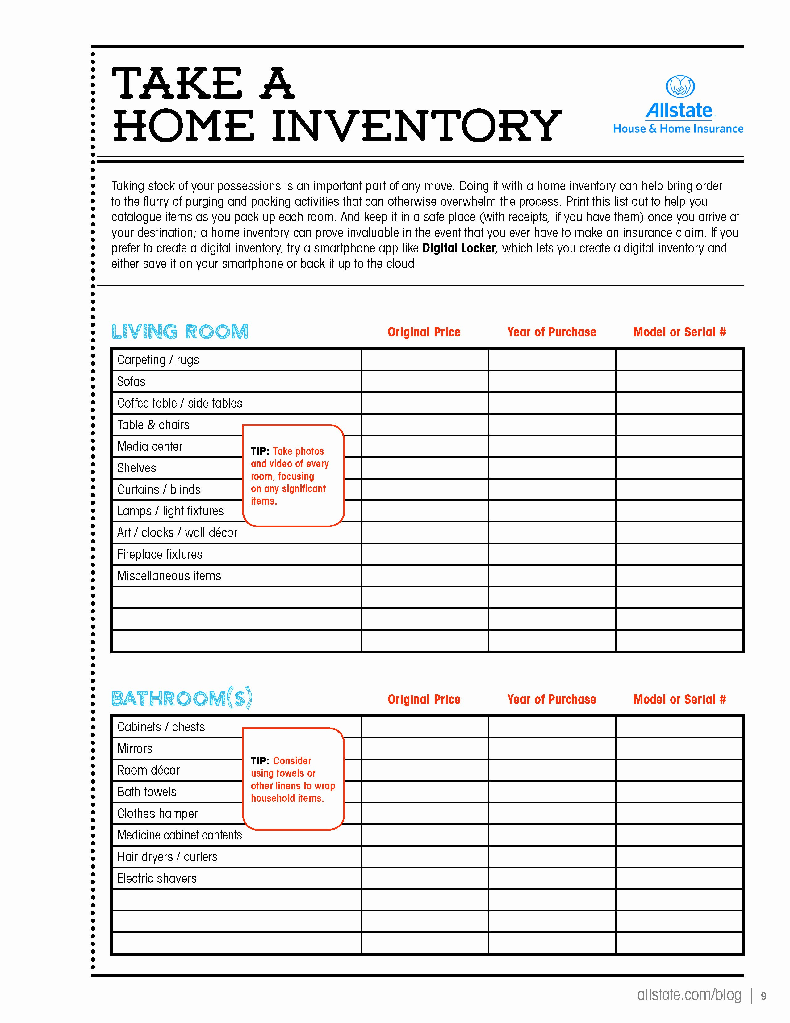 Moving Inventory List Template Fresh Take A Home Inventory Page 1 Of 5 Loveyourhome