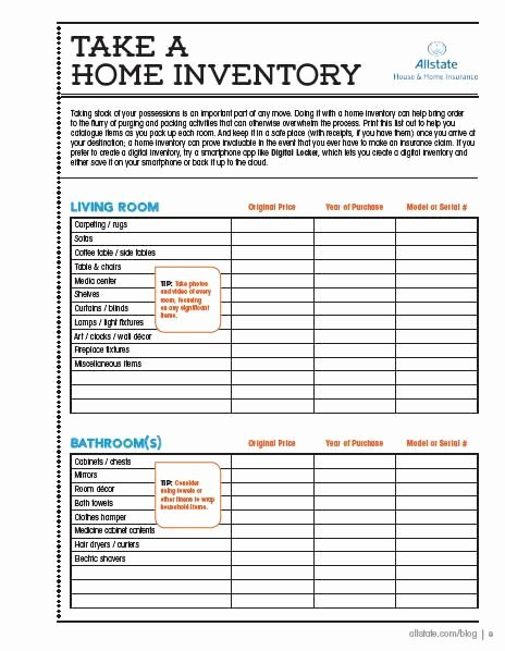 Moving Inventory List Template Inspirational Moving Guide Printable Home Inventory Checklist
