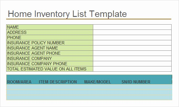 Moving Inventory List Template New 19 Free Moving Inventory List Templates Ms Fice Documents