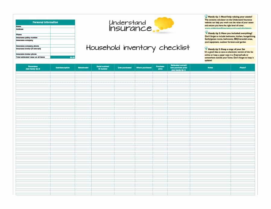 Moving Inventory List Template New 45 Printable Inventory List Templates [home Fice