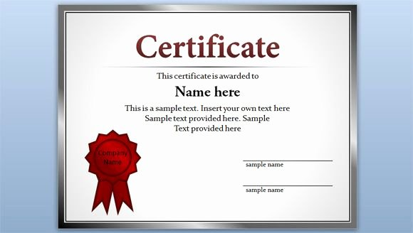 Ms Publisher Certificate Templates Best Of Free Editable Certificate Template for Powerpoint