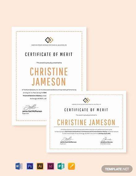 Ms Publisher Certificate Templates Lovely Merit Award Certificate Template Download 157