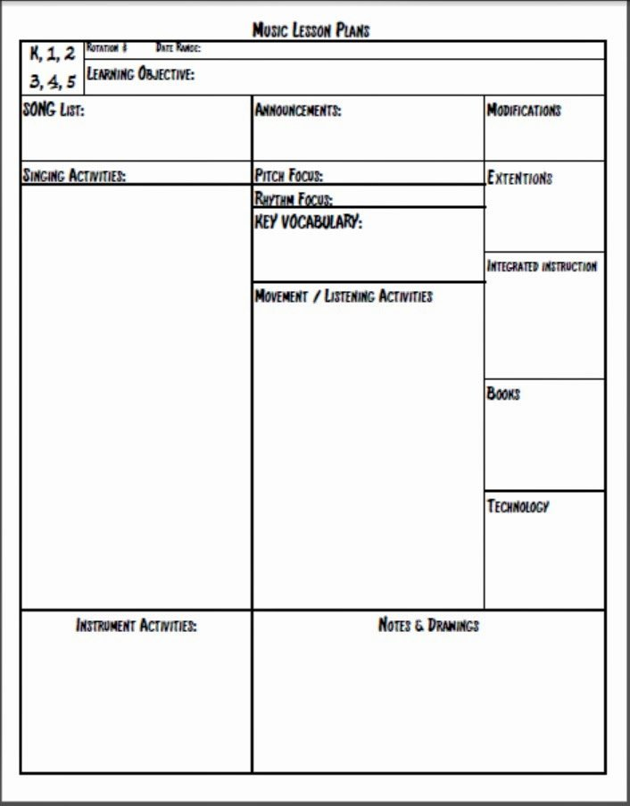 Music Lesson Plan Template Best Of Melodysoup Blog Music Lesson Plan Template