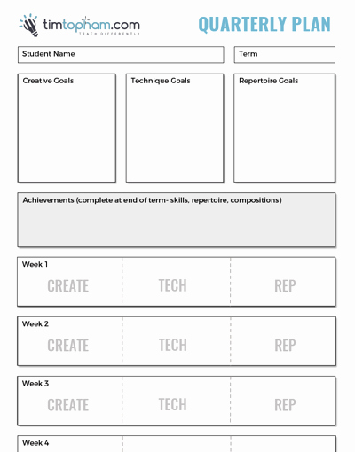 Music Lesson Plan Template Inspirational Quarterly Planning Thumb Creative Music Education