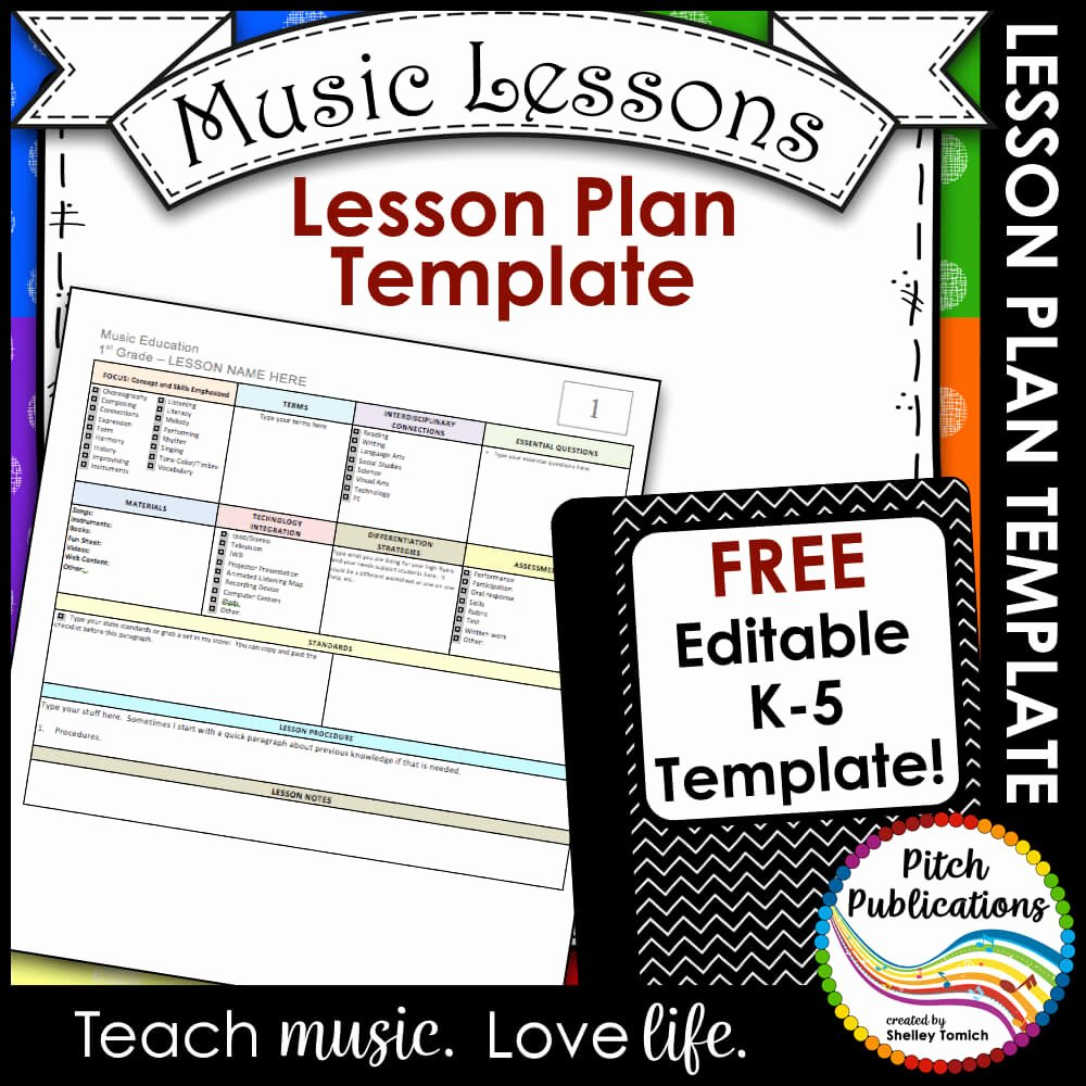 Music Lesson Plan Template Luxury Elementary Music Lesson Plan Templates Free