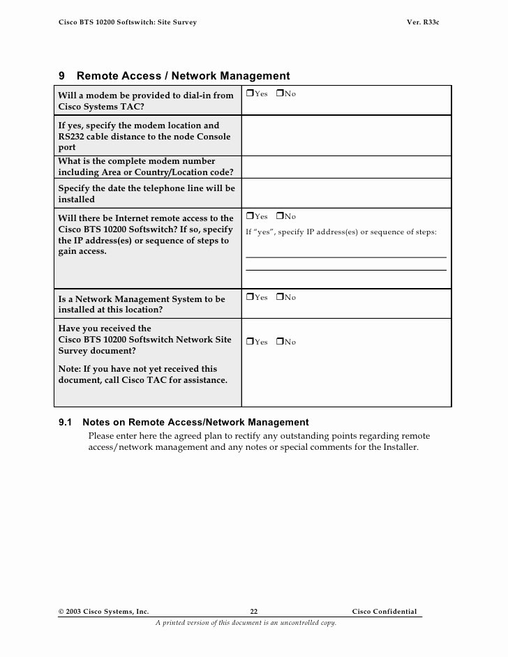 Network Site Survey Template Best Of Site Survey Template