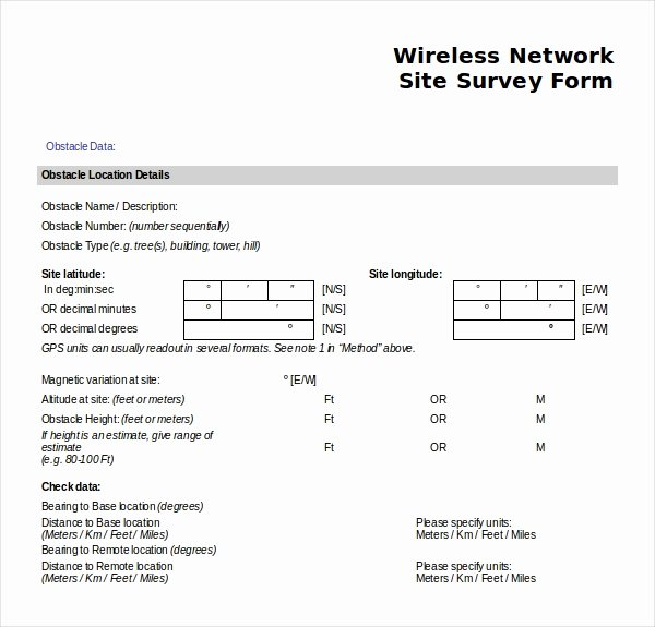 Network Site Survey Template Elegant 12 Site Survey Templates – Pdf Word