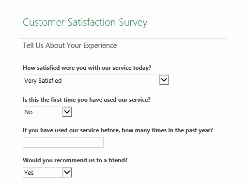 Network Site Survey Template New Customer Satisfaction Survey