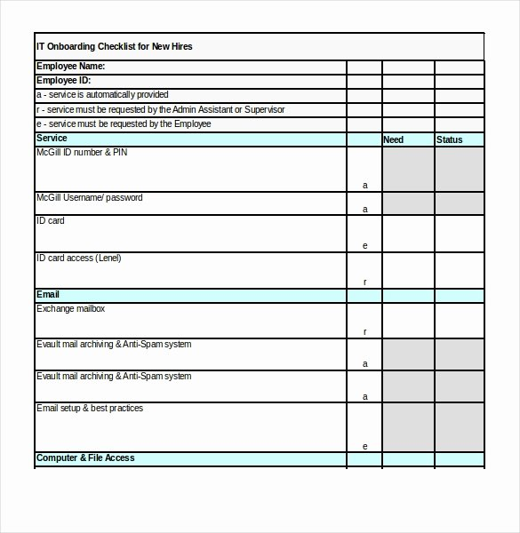 New Employee Checklist Template Excel Awesome Boarding Checklist Template 17 Free Word Excel Pdf