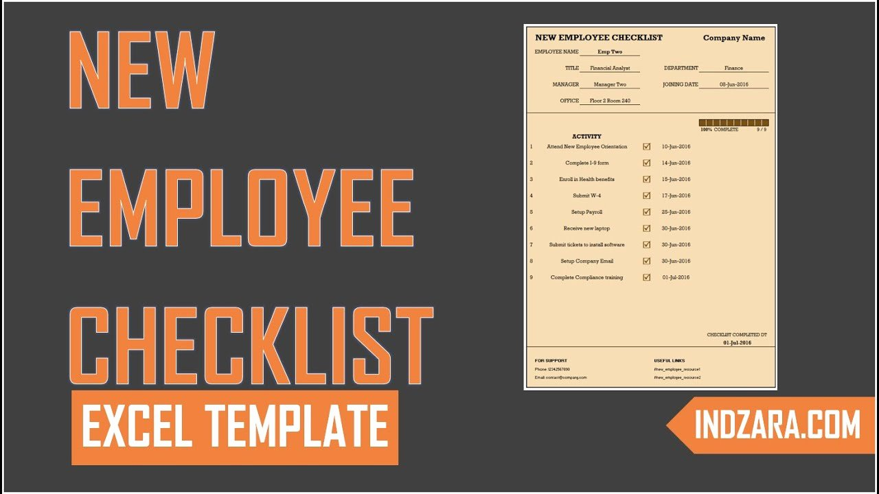 New Employee Checklist Template Excel Lovely New Employee Checklist Free Excel Template tour