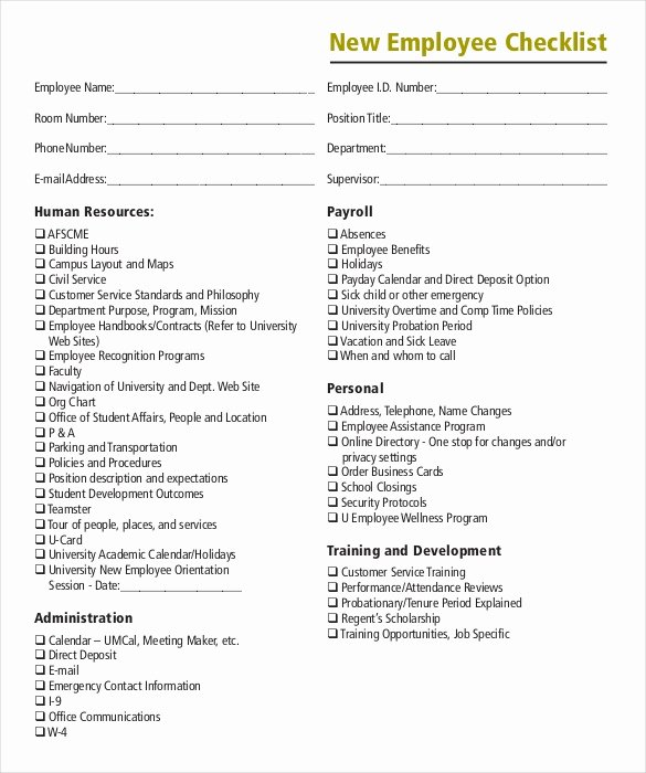 New Hire Checklist Template Word Awesome Boarding Checklist Template 17 Free Word Excel Pdf