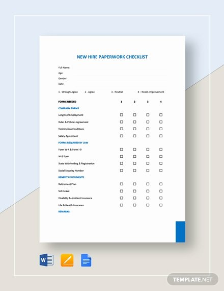 New Hire Checklist Template Word Best Of New Hire Paperwork Checklist Template Word
