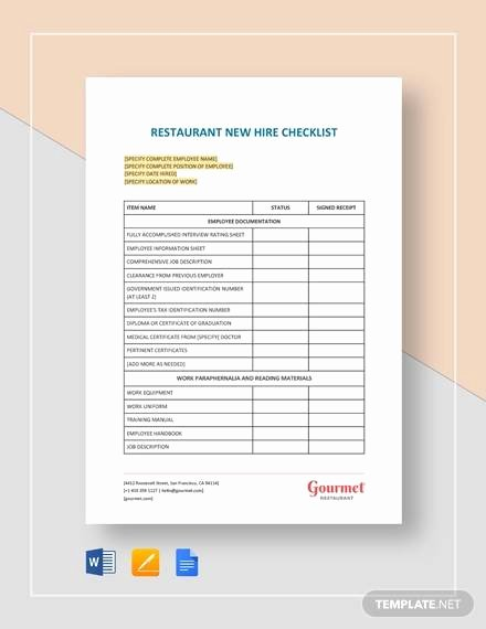 New Hire Checklist Template Word Fresh 9 New Hire Checklist Samples & Templates Word Excel Pdf