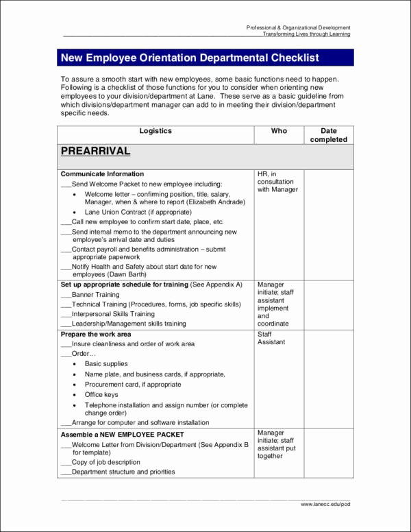 New Hire Checklist Template Word Lovely 9 New Hire Checklist Samples & Templates Word Excel Pdf