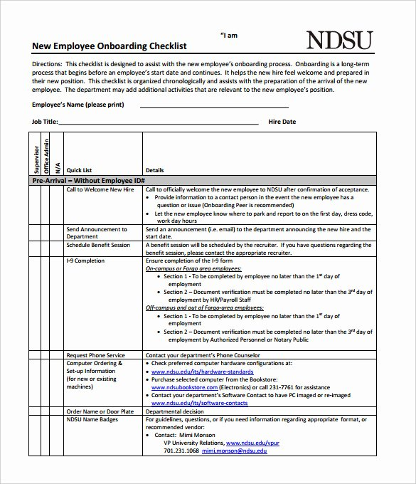 New Hire Checklist Template Word Lovely New Hire Checklist Sample 16 Documents In Pdf