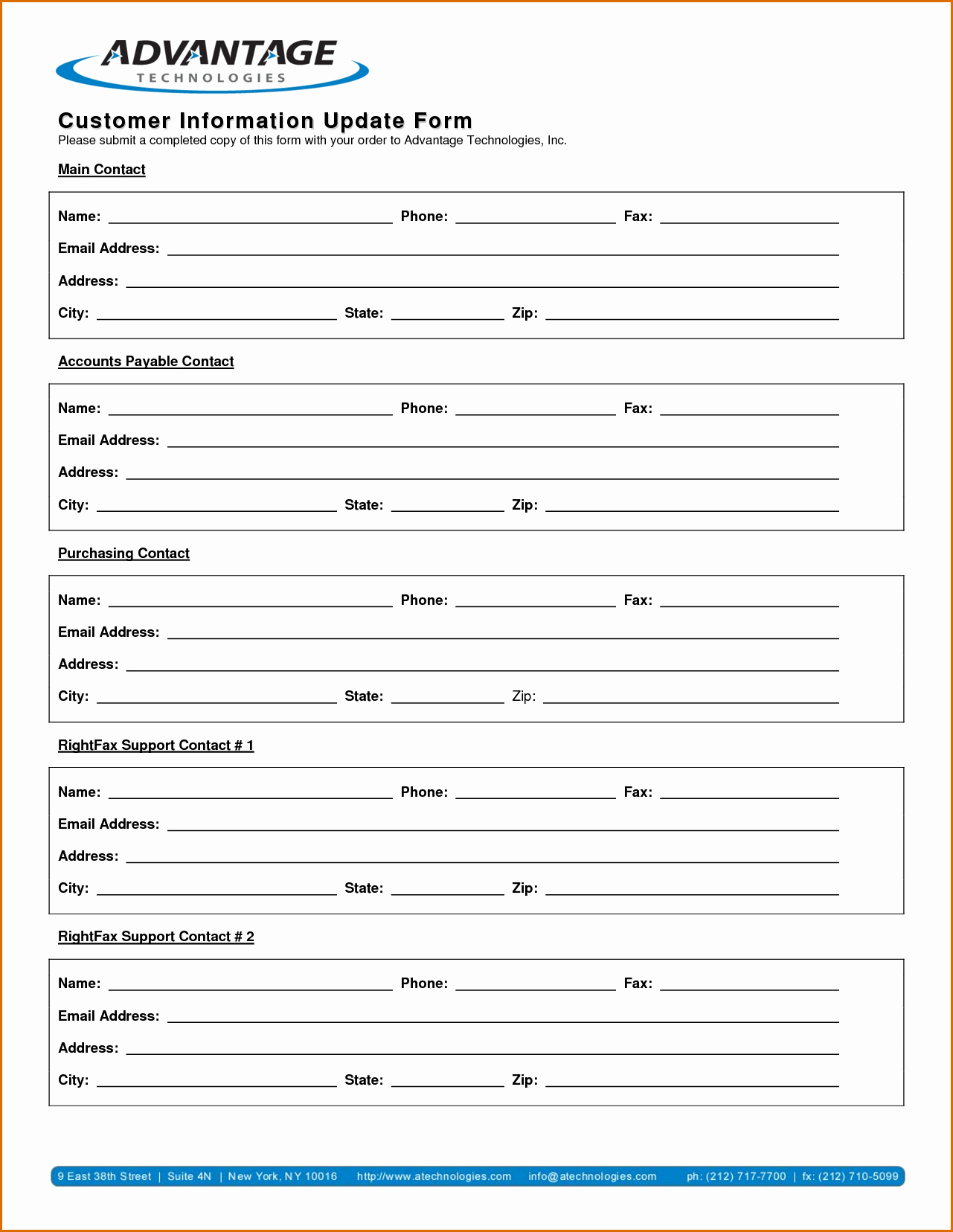 New Vendor Setup form Template Beautiful 13 Customer Information form Template