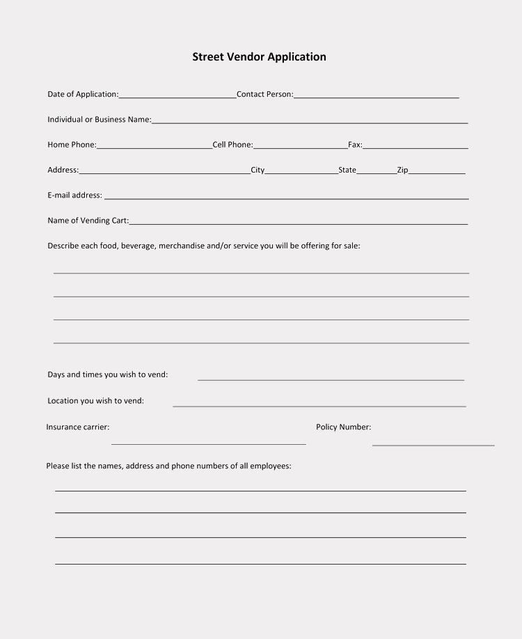 New Vendor Setup form Template Elegant 9 Printable Blank Vendor Registration form Templates for
