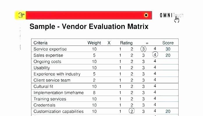New Vendor Setup form Template Fresh Vendor Performance Evaluation Template