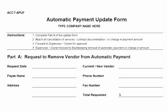 New Vendor Setup form Template New New Customer Account form Template Setup Vendor Excel