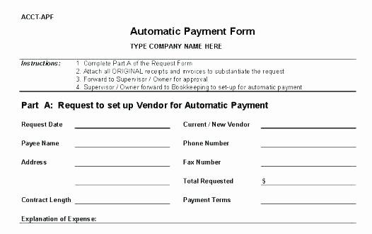 New Vendor Setup form Template Unique Template Vendor Application form Template