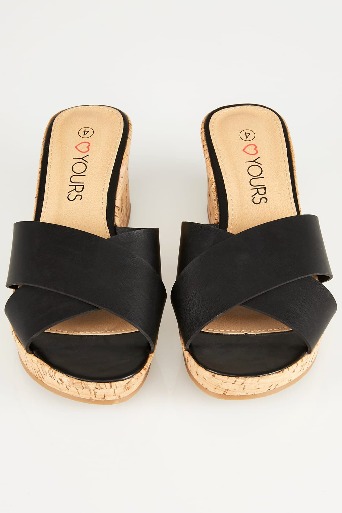 No Refund Policy Template Beautiful Black Crossover Cork Wedge Sandals In Eee Fit
