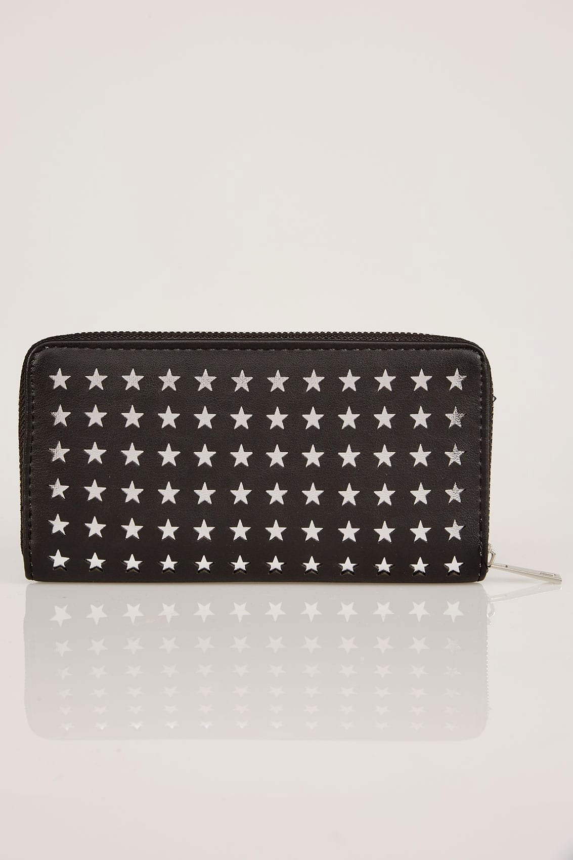 No Refund Policy Template Lovely Black & Silver Star Cut Out Purse