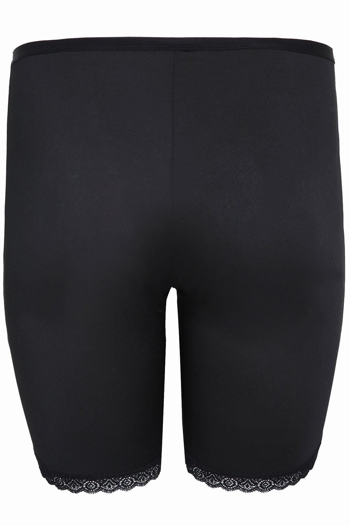 No Return Policy Template Elegant Black Thigh Smoother Brief with Lace Detail Hem Plus Size